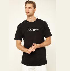 100%COTON Men's Basic T-shirt avec logo personnalisé