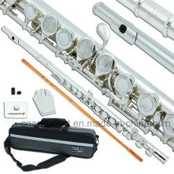 Nuevo Diseño 16 hoyos de alta calidad de estudiante de la Flauta de plata