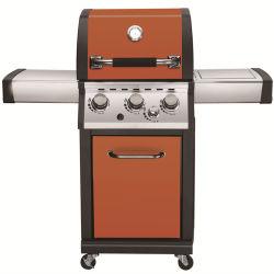 BBQ esterno del barbecue della griglia del gas dell'acciaio inossidabile dei 3 bruciatori GPL