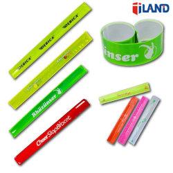 Executando o reflexo da Pulseira de alta visibilidade de Percurso da Correia Slap Slap bracelete de PVC de segurança