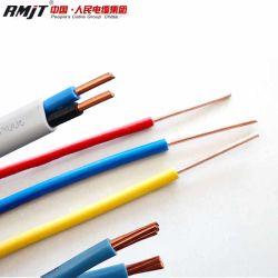 Âme en cuivre à revêtement en PVC de produits de câble électrique de la Chambre des matériaux de câblage