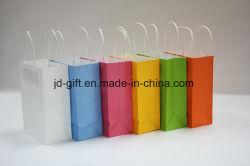 La couleur du papier kraft sac cadeau avec Poignée Torsadée