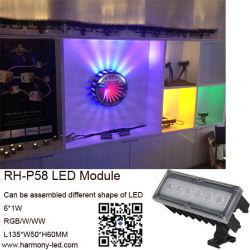 アドレスコードのアルミニウム30W DMX512 RGB LED壁の洗濯機