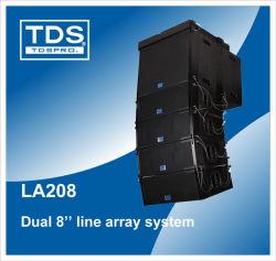 Haute sensibilité Dual 8 pouce de la ligne 208 avec Pleine gamme Array pour système de sonorisation ou Live Show System