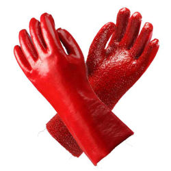 Dubbel pvc Dipped Safety Gloves met Ce Certificated