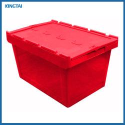 De solides et d'emballage plastique joint mobile Boîte avec couvercle de verrouillage