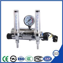 Regulador de gás CO2 eléctrico com medidor de fluxo duplo