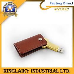 로고 프린팅 가죽(ku-002)이 포함된 판촉 선물 메탈 USB