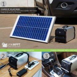 Elevada capacidade de Gerador de Energia Solar Portátil utilizado no Beach/ Camping