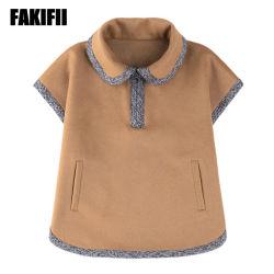 어린이 의류 신상품 아동복 겨울 해군 모직 코트 걸상 재킷