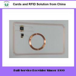 Carte RFID en plastique hybride combinant 125kHz et puces 13.56MHz