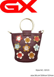 Venda a quente Balde Chinês Hobo Bag Lady Mala com flores