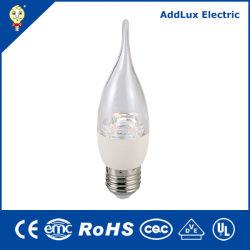 Ce UL Saso Energy Saving 4.5W gradation 7W E12 E26 Lampe LED Bougie fabriqués en Chine pour la maison d'entreprise et l'éclairage extérieur de la meilleure usine de distributeur