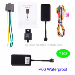 Dispositif de repérage GPS de voiture avec télécommande ou du circuit d'huile de la fonction coupe T108