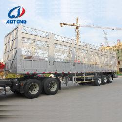 50 tonnes Dropside Tri-Axle Jeu des cargaisons en vrac de l'aluminium semi-remorque pour la vente