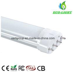 Usine de Shenzhen 22W 2200lm 2g11 Ampoule de LED Tube lumineux avec 4 bornes 2Lampe G11