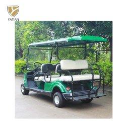 6 places en plein air populaire voiturette de golf avec jante en aluminium, Voltag 48V de la batterie