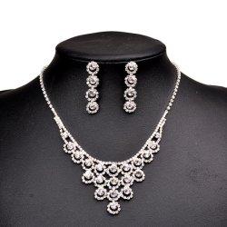 Cristal de vente chaude bijoux Set Set de bijoux de mariage de mariée