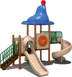 كارتون الشريحة للأطفال ممارسة الملاهي تحدي حديقة ملعب في الهواء الطلق