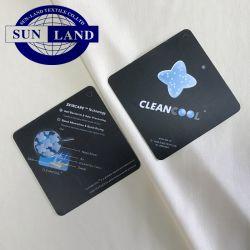 Poliéster 100 Ropa interior antibacterias tejida Nano Silver Cleancool jersey tejido interlock