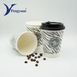 Impresso descartáveis de papel de espuma xícaras de café com tampa