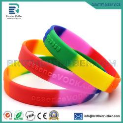 Kundenspezifischer Silikon-Armband-Silikongroßhandelswristband-Gummiband