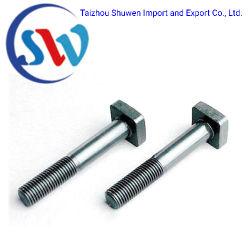 Kundenspezifische hochfeste quadratische halbe Gewinde-Hauptschraube/Stahlschraube
