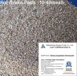 Prevención de incendios, el aislamiento de la Junta Pastillas de freno utilizan la Vermiculita expandida plateado