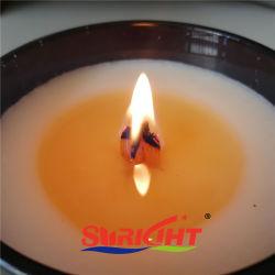 8 oz de Madeira da cruz de luxo Wick no recipiente de vidro preto mate de Cera de soja tipo Vela Perfumada