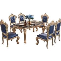 Столовая мебель цельной древесины обеденный стол с кожаные кресла в по заказу мебель окраска цвет