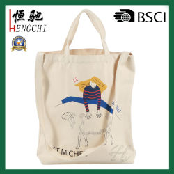 Commerce de gros coton sac cadeau fourre-tout sac shopping à poignée double pour la promotion