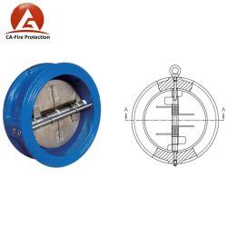 나비 모양 Pn16 CF8m 물 이중 뚜껑 플래퍼 유형 웨이퍼 점검 밸브