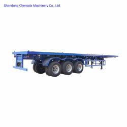 2/3 Semi Aanhangwagen van de Capaciteit van de Lading van de Vrachtwagen van het Nut van de As 40FT Flatbed Zware