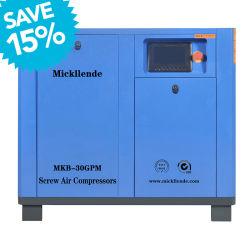 Industrial Mcikllende Motor eléctrico refrigerado por aire y refrigeración del compresor de aire de tornillo doble
