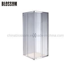 Praça do clássico da Estrutura de alumínio vidro da porta corrediça cabina de duche privada