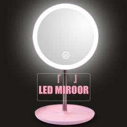 Maquillaje espejo retroiluminada con LED blanco de luz natural diurna Espejo/Base de Almacenamiento extraíble 3 modos de Espelho Lustro LD