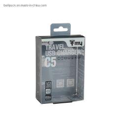 Freie hängende Schaukarton-Kopfhörer-Einzelverkaufs-Kasten-Aufladeeinheits-Plastikpakete
