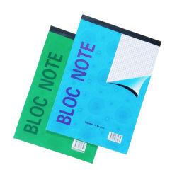 Bloque Munufacturer Cuaderno forrado de cuadrado de papel A5 Bloc de notas