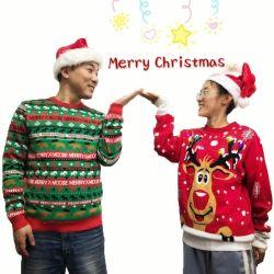 OEM 남녀 공통 성인 LED 빛을%s 가진 추악한 크리스마스 스웨터 제조자