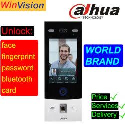 8 pulgadas de huellas dactilares de reconocimiento facial Video Portero Vto7541g China Dahua Villa Apartamento Sistema de intercomunicación de vídeo IP