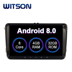 ゴルフ(MK5) (車のDVDプレイヤーの2003-2009年の) 4GB RAM 64GBのフラッシュ大きいスクリーンのためのアンドロイド9.0車の自動ラジオGPS