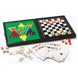 7 em 1 Magnetic jogo de xadrez da Caixa