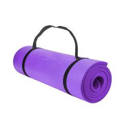 Commerce de gros Eco 4 mm de pliage lavable NBR Yoga Exercice mat avec toile sac fourre-tout à l'emballage