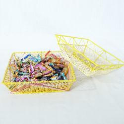 Renel Papel Artesanal una cuerda de algodón tejido de cestas de almacenamiento de caramelo