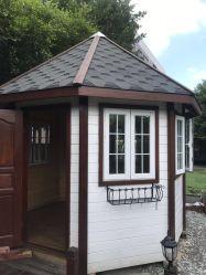 La pequeña casa de madera prefabricados Octagon