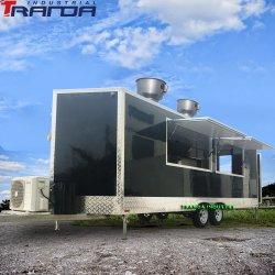 Tranda 23X7 주문 소형 아이스크림 음식 트럭 중국 이동할 수 있는 음식 트레일러 손수레 스테인리스 핫도그 음식 손수레는 중국제 판매한다