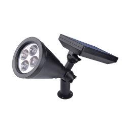 쉬운 사용 옥외 LED 태양 잔디밭 램프 태양 강화된 LED 지팡이 빛 태양 정원 통로 빛