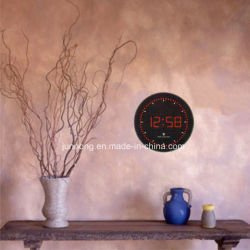 Tempo de Sinal automático do rádio digital LED Definir Círculo relógio de parede