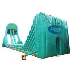 2020, el gigante de la fábrica gracioso utiliza el equipo de parque de atracciones inflables Crazy Canopy tobogán de agua para la venta