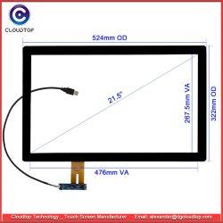 """21.5 """" 위원회 PC, 간이 건축물 및 POS 단말기를 위한 USB 공용영역을%s 가진 전기 용량 접촉 스크린"""